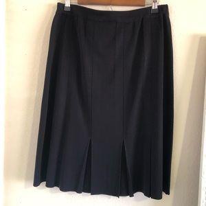 Exclusively Misook pleat midi skirt